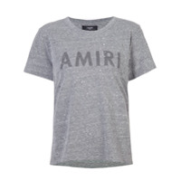 Amiri Camiseta Com Slogan - Cinza