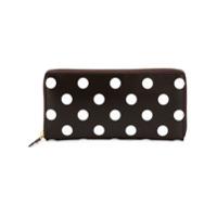Comme Des Garçons Wallet Carteira Modelo 'polka Dots Printed' - Brown