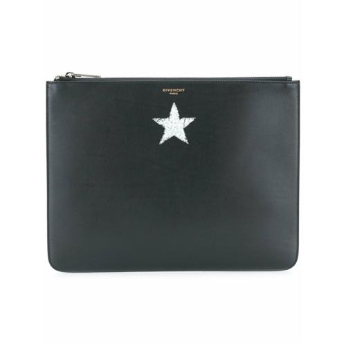 Imagem de Givenchy Necessaire em couro com detalhe de estrela - Preto