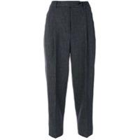 Brag-Wette Calça Cropped Listrada - Grey