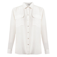 Le Lis Blanc Blusa De Linho Estampada - Branco