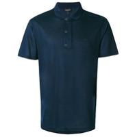 Emporio Armani Camisa Polo Com Logo - Azul
