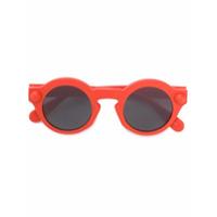 Christopher Kane Eyewear Óculos De Sol Arredondado - Amarelo E Laranja