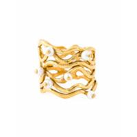 Aurelie Bidermann Anel 'cheyne Walk' Com Banho De Ouro 18K - Metallic