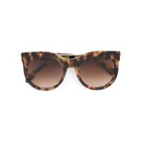 Alexander Mcqueen Eyewear Óculos De Sol De Armação Redonda - Brown