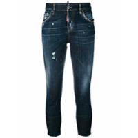 Dsquared2 Calça Jeans Cropped 'cool Girl' - Azul