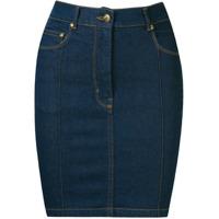 Amapô Saia Jeans Cintura Alta - Azul