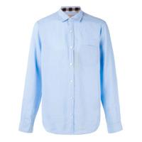 Burberry Camisa De Linho 'westcliffe' - Azul
