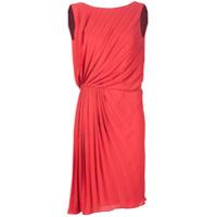 Maison Margiela Vestido Com Pregas - Vermelho