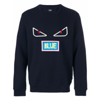 Fendi Blusa De Moletom 'bag Bugs' - Azul