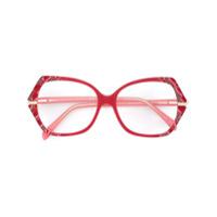 Emilio Pucci Armação De Óculos Oversize Em Acetato - Vermelho