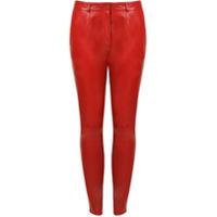Dolce & Gabbana Calça Skinny De Couro - Vermelho