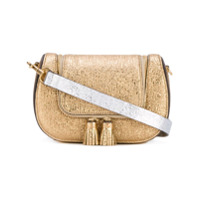 Anya Hindmarch Bolsa Satchel De Couro 'circulus Vere' Mini - Metallic