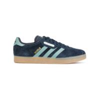 Adidas Tênis De Couro E Camurça Com Cadarço - Azul