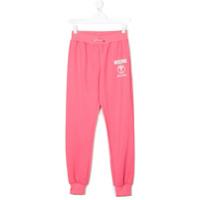 Moschino Kids Calça Esportiva Estampada - Pink & Purple