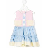 Simonetta Vestido Color Block - Estampado