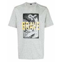 Diesel Camiseta 'brave' Mangas Curtas - Cinza