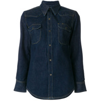 Calvin Klein 205W39Nyc Camisa Jeans - Azul