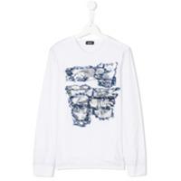 Diesel Kids Camiseta Com Estampa - Branco