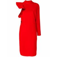 Givenchy Vestido Assimétrico De Seda - Vermelho