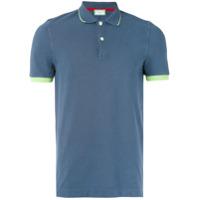Capricode Camisa Polo Com Contraste - Azul