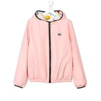 Fendi Kids Jaqueta Com Capuz - Pink