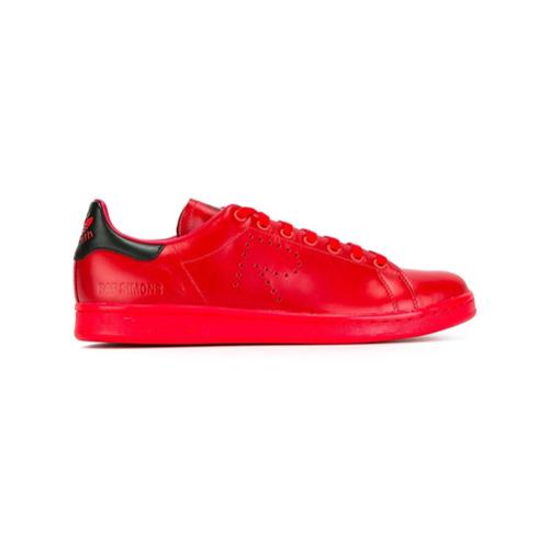 Imagem de Adidas By Raf Simons Tênis de couro com cadarço - Vermelho
