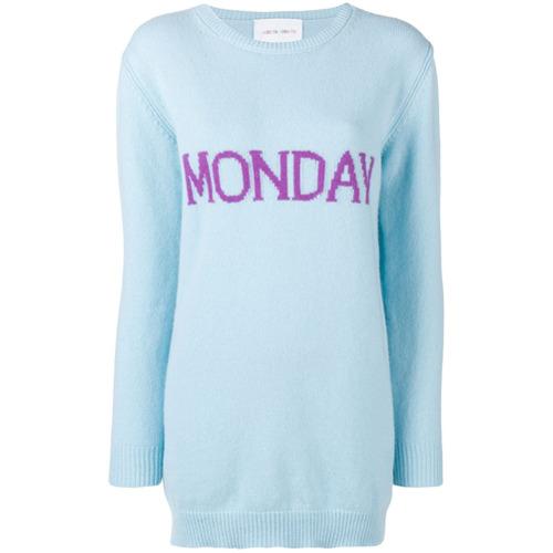 Imagem de Alberta Ferretti Vestido suéter 'Monday' - Azul