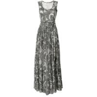 Diane Von Furstenberg Vestido Longo Estampado - Preto