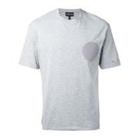 Emporio Armani Camiseta Com Patch De Logo - Grey