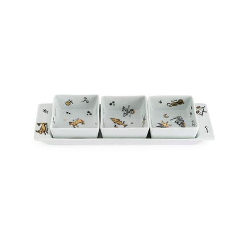 Fornasetti Astronomici appetizer set - Branco