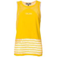 Adidas By Stella Mccartney Regata Com Recortes Vazados - Amarelo E Laranja