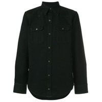 Calvin Klein 205W39Nyc Camisa Jeans Com Bolsos - Preto