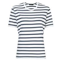 Bassike Camiseta Listrada Mangas Curtas - Branco