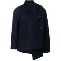 Balenciaga Jaqueta Assimétrica 'caban' - Azul