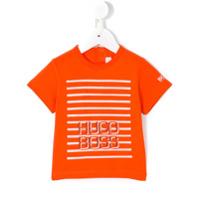 Boss Kids Camiseta Com Logo Estampado - Amarelo E Laranja
