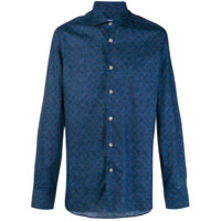 Borriello Camisa Estampada - Azul