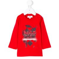 Boss Kids Camisa Com Estampa - Vermelho