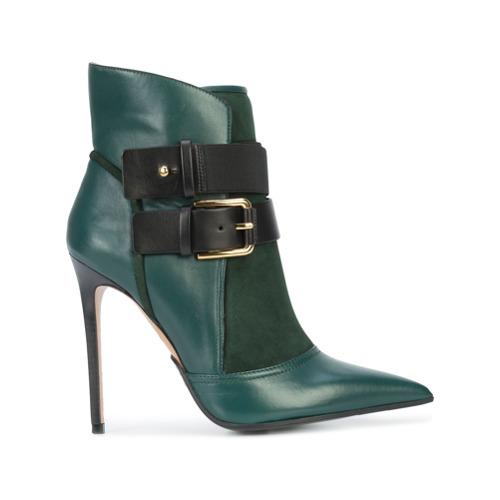 Imagem de Balmain Ankle boot de couro com fivelas - Green