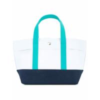 Cabas Bolsa Tote Color Block - Azul