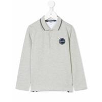 Boss Kids Camisa Polo Mangas Longas - Grey