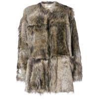 Stella Mccartney Casaco 'fur Free Fur Elina' - Marrom
