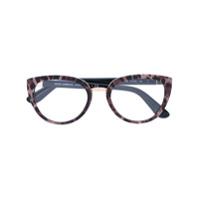 Dolce & Gabbana Eyewear Óculos Com Estampa De Leopardo - Preto