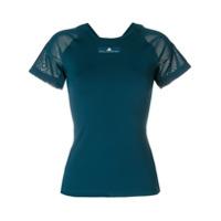 Adidas By Stella Mccartney Camiseta Com Recorte Vazado - Azul