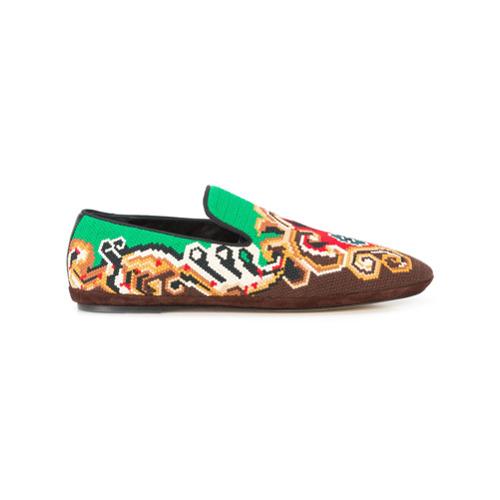 Imagem de Loewe embroidered slippers - Estampado
