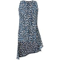 Derek Lam Blusa De Seda Com Estampa Leopardo - Azul
