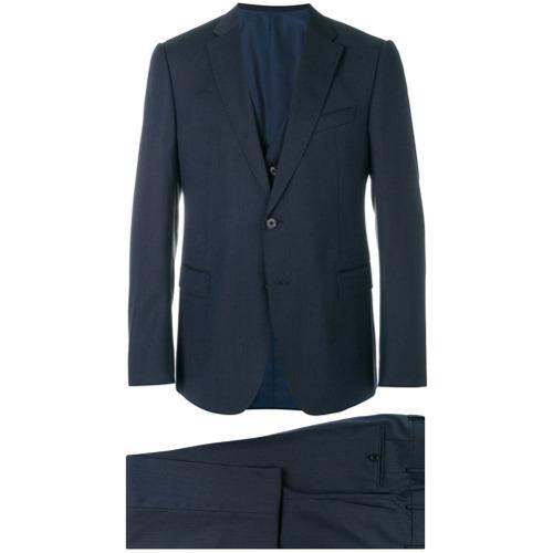 Imagem de Armani Collezioni Terno slim com colete - Azul