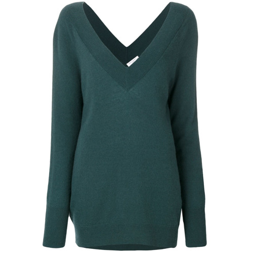 equipment-sueter-decote-v-de-cashmere-green