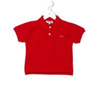 Comme Des Garçons Play Kids Camisa Polo Com Aplicação - Vermelho