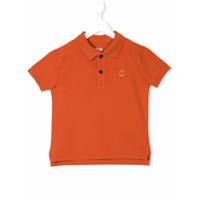Cp Company Kids Camisa Polo Mangas Curtas - Amarelo E Laranja